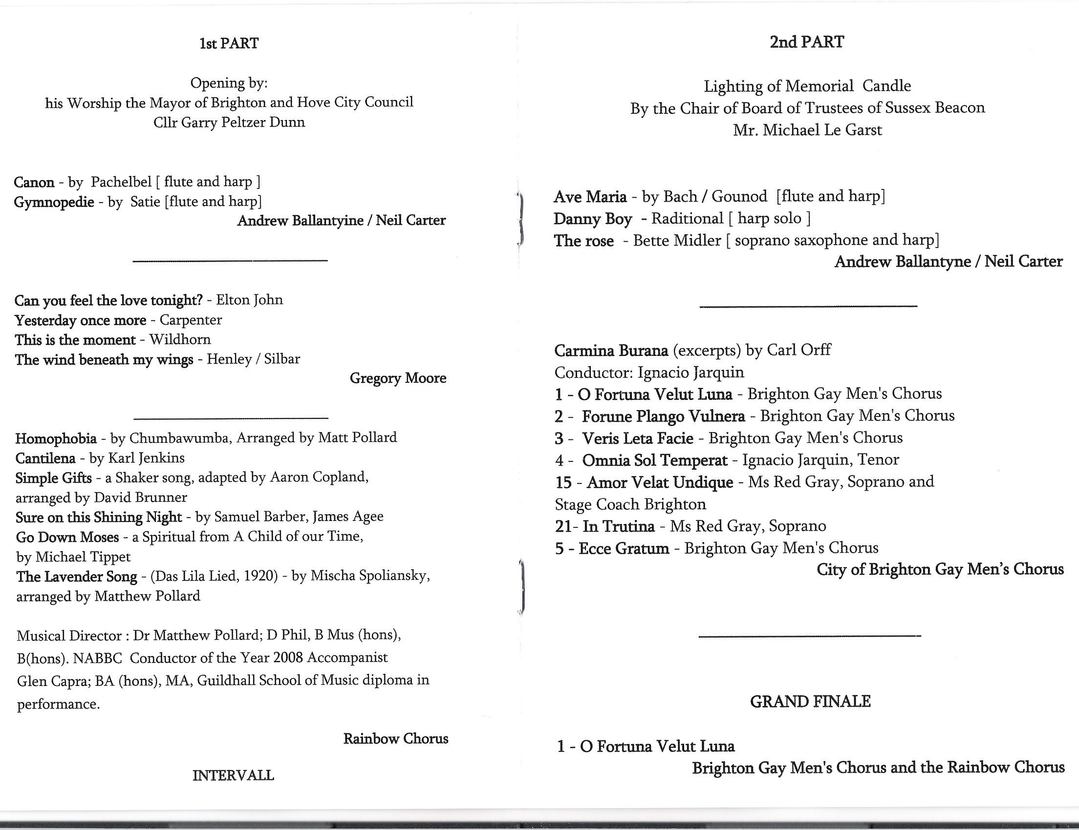 Rainbow Chorus - Archive