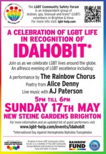 IDAHOBIT Brighton 2015